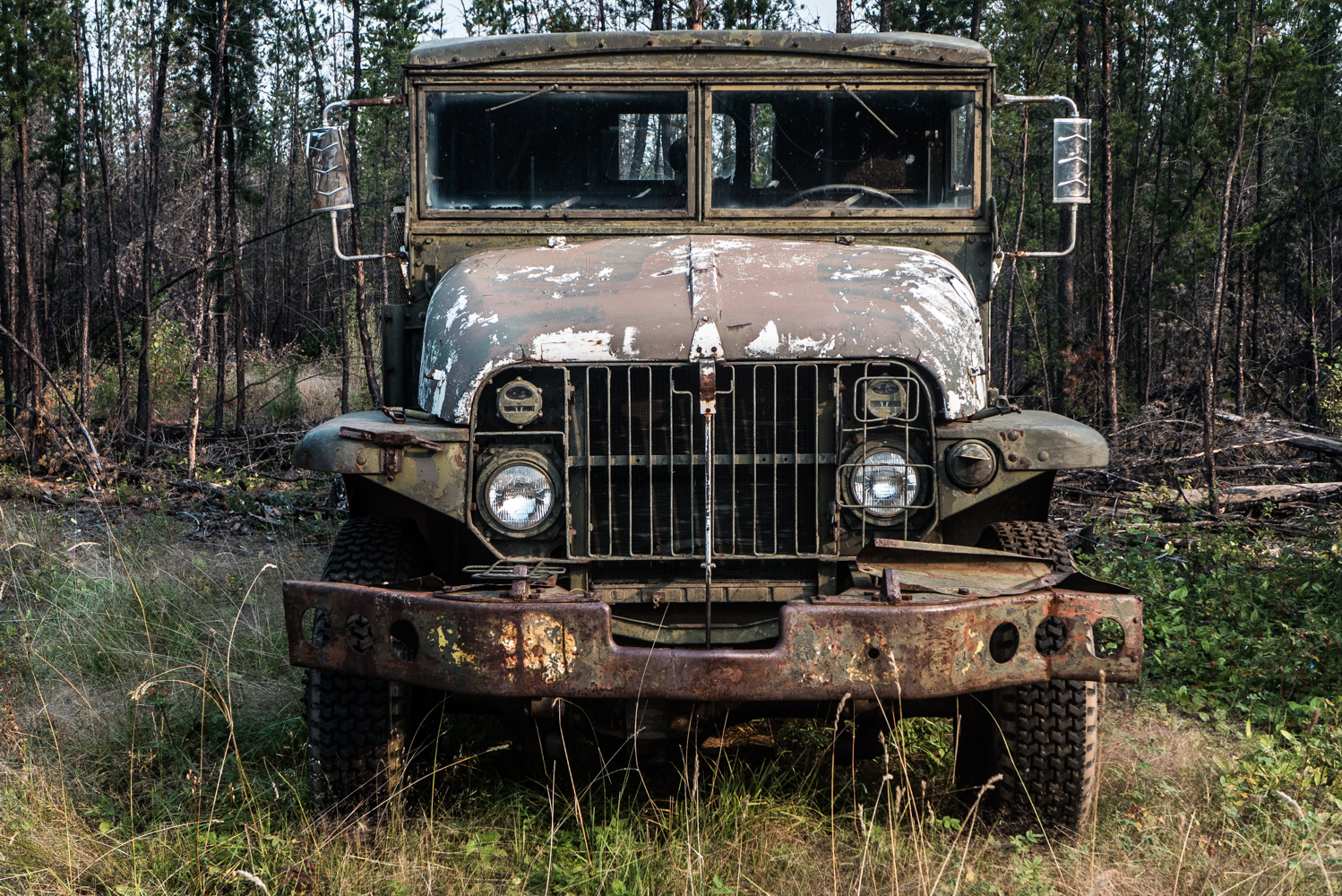 Army truck from the Second World War at Embarras Portage, August 2014.