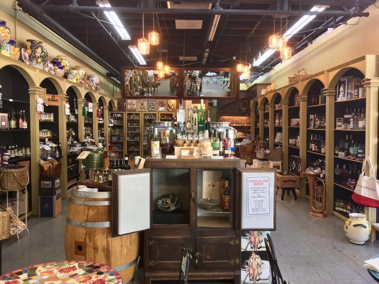 "Born in California, olive oil made with California bred olive oil  The first thing you can see when you enter the store is a dark brown glass bottle aligned with the slurry and a large silver container filled with olive oil and vinegar that is set everywhere in the shop. A surprising assortment seems better to call ""museum"" than olive oil & vinegar specialty store."