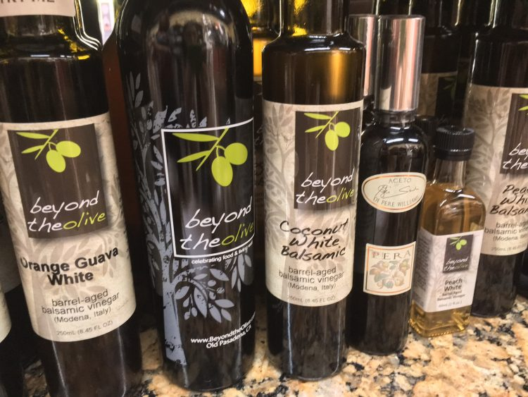 "The top seller is a balsamic vinegar ""25 Star"" which has been aged thoroughly for 18 years. It has a sweetness, which is characterized by its drought like syrup, and compatibility with flavor oil is outstanding.  The second most popular is ""fig"" flavor. This is also aged for 18 years, it is thick balsamic vinegar like melted chocolate, it contains grain of FIG."