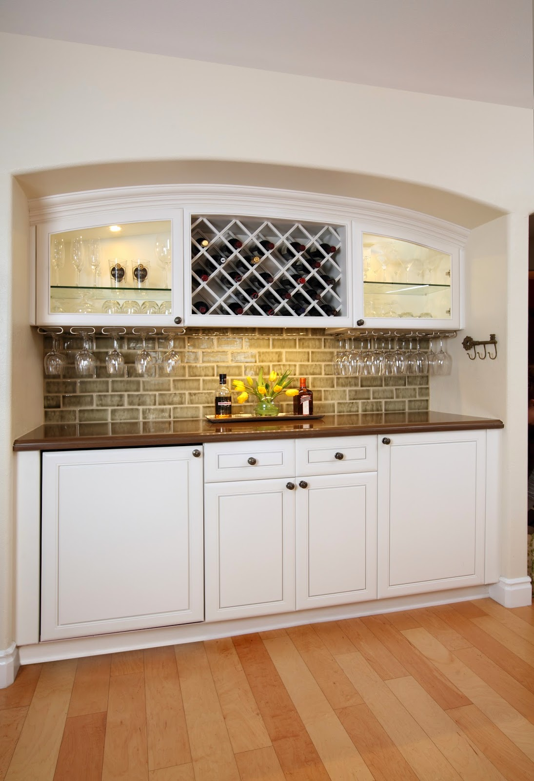 wine.storage.open.concept.country.kitchen.design