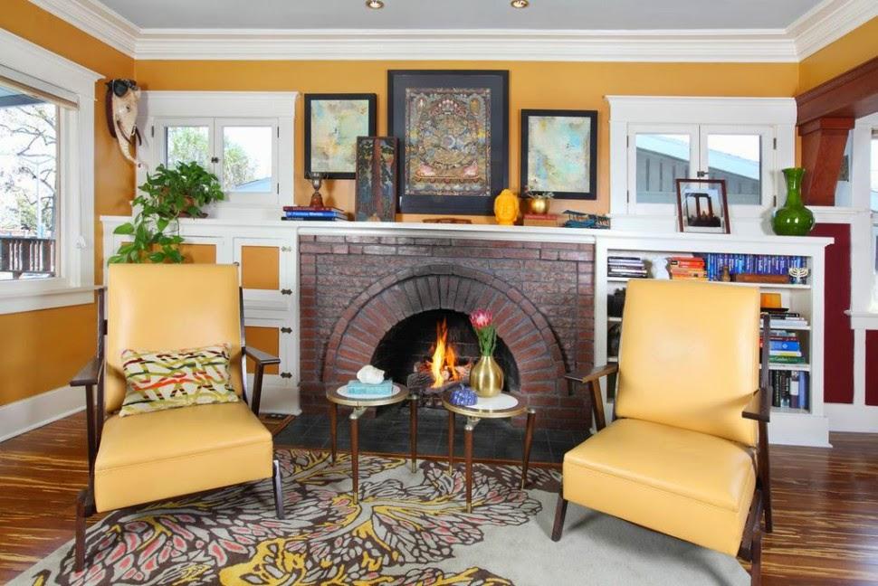 Yellow.Livingroom.design.cozy