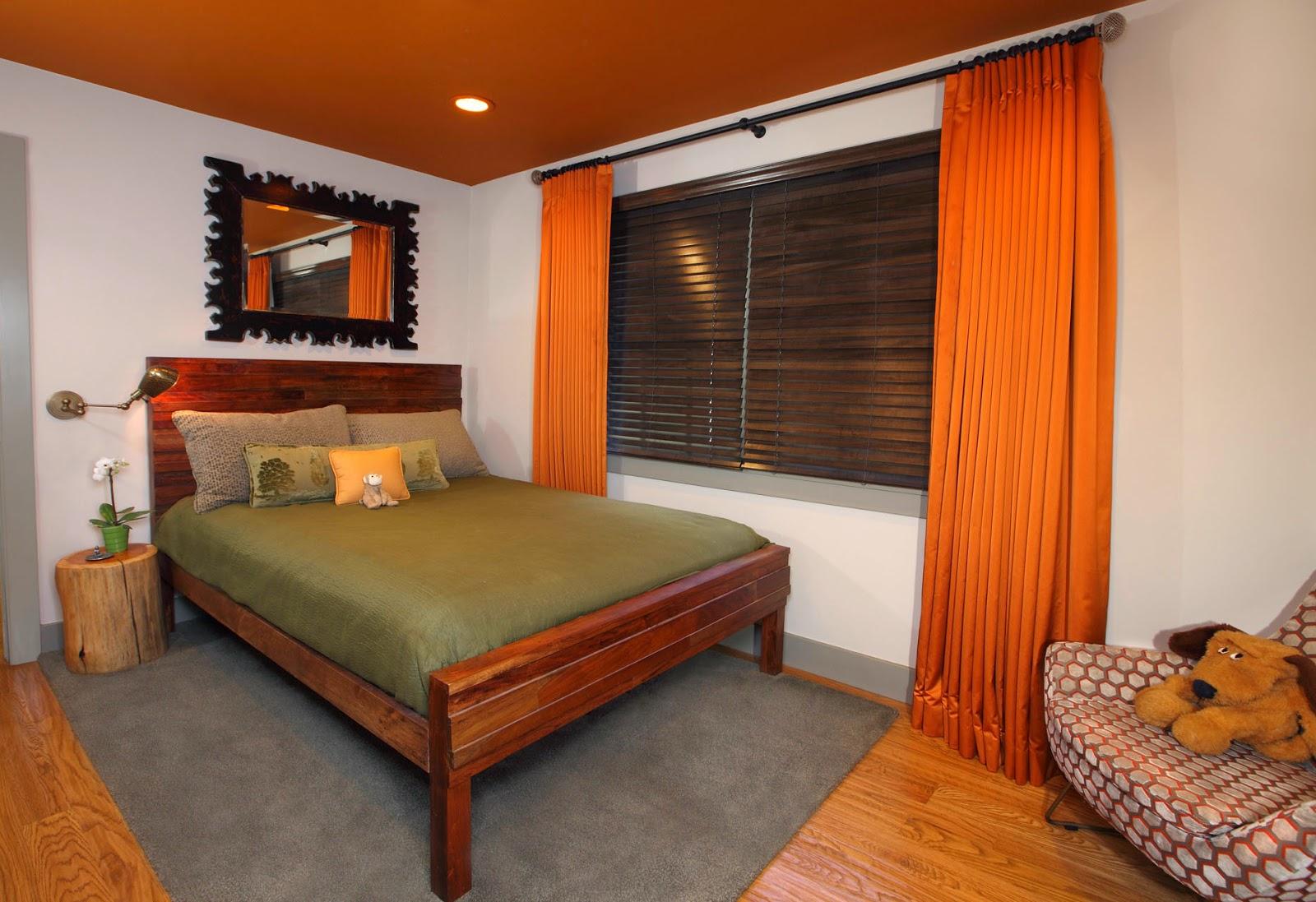 orange.bedroom.design