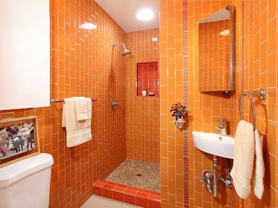 orange.modern.bathroom.remodel