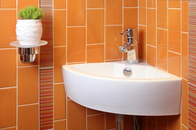 modern.orange.bathroom.remodel