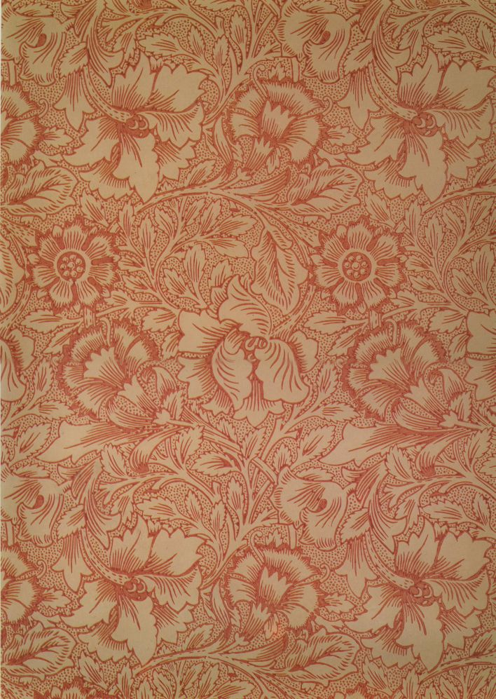 Wallpaper Design. Attributed to William Morris. c. 1881 .  Photo by   Unknown.  Public Domain .