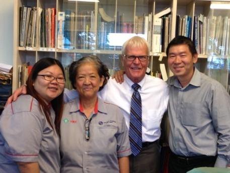 Bill Howard visiting valued customers