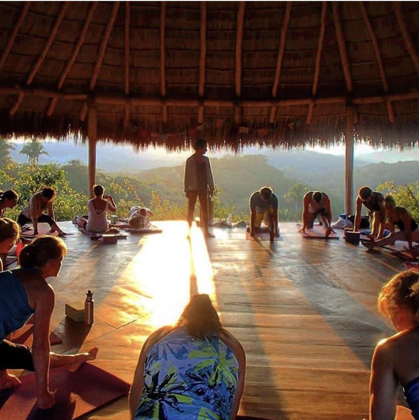 The sunrise (literally) yoga shala.