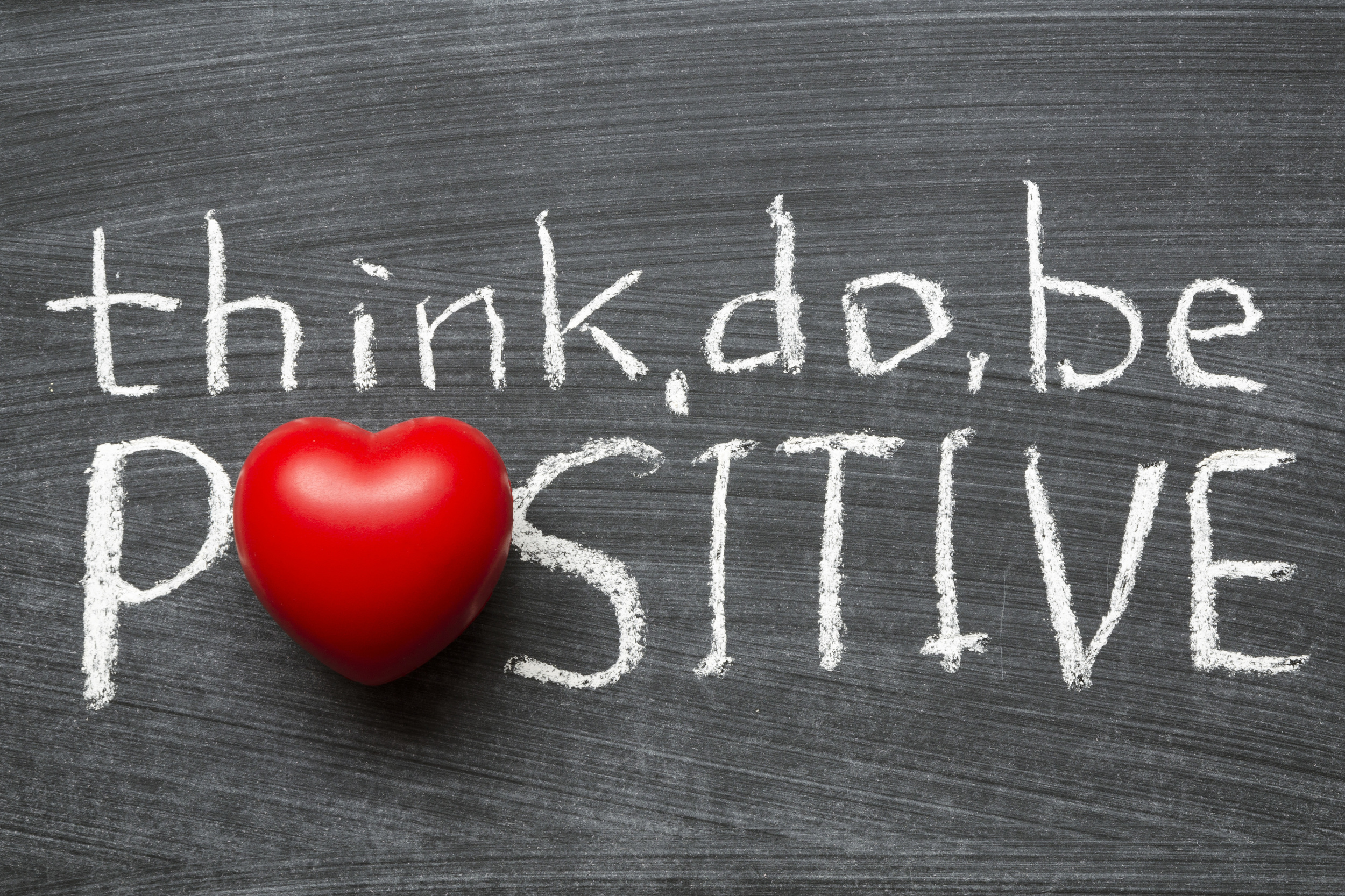 Think, do, be positive - a positive attitude is essential to your fitness journey.