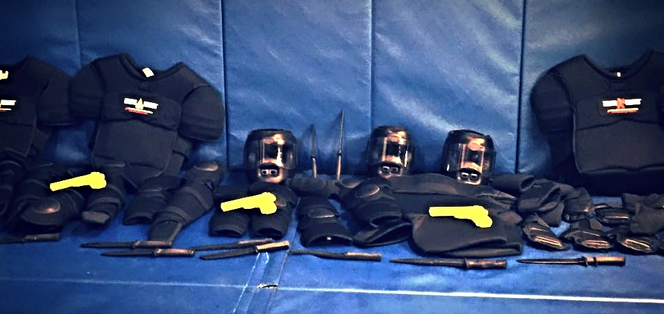 The gear for Self Defense community courses at Kamikaze Punishment Foundation.
