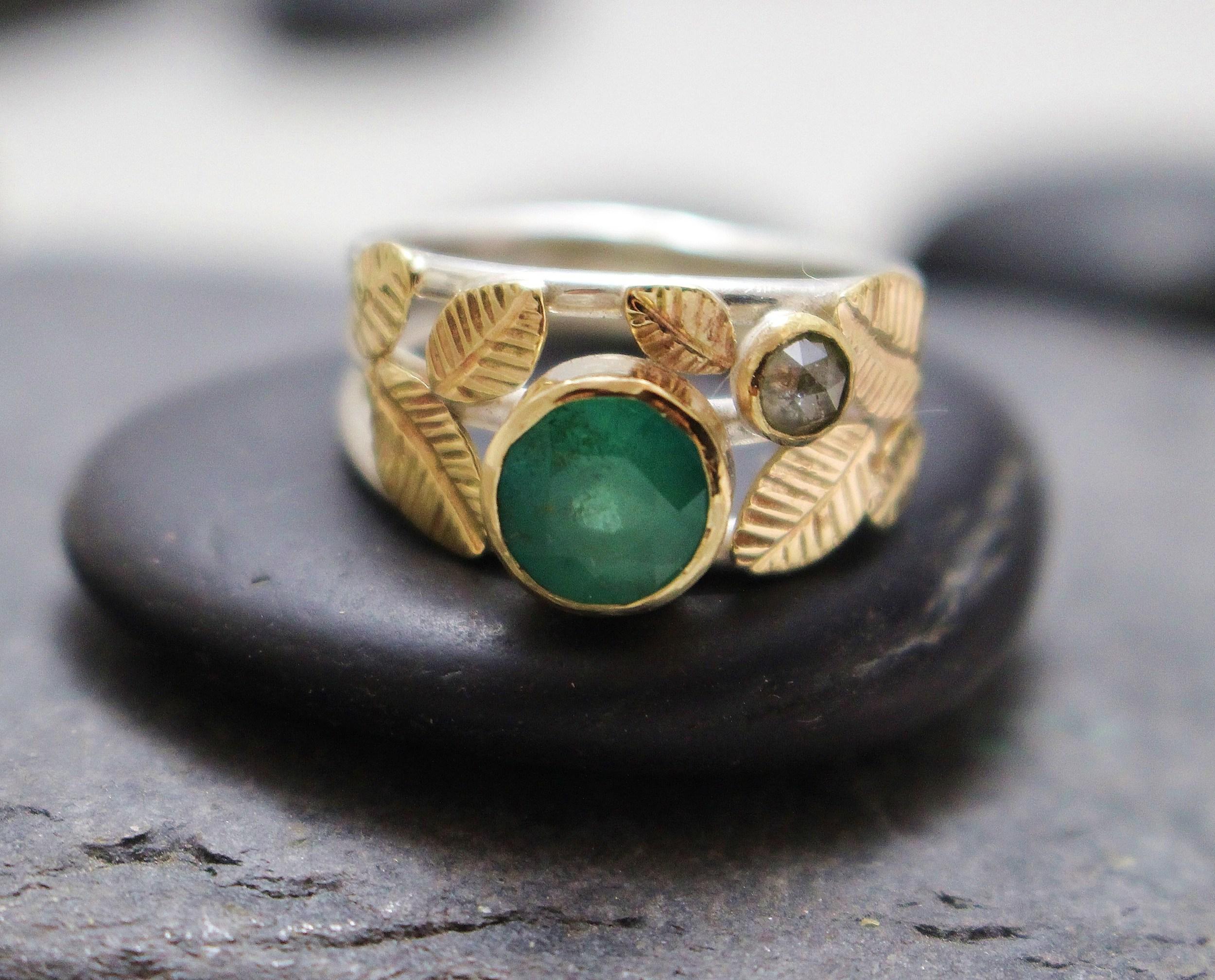 emerald diamond leaf ring 2 001.JPG