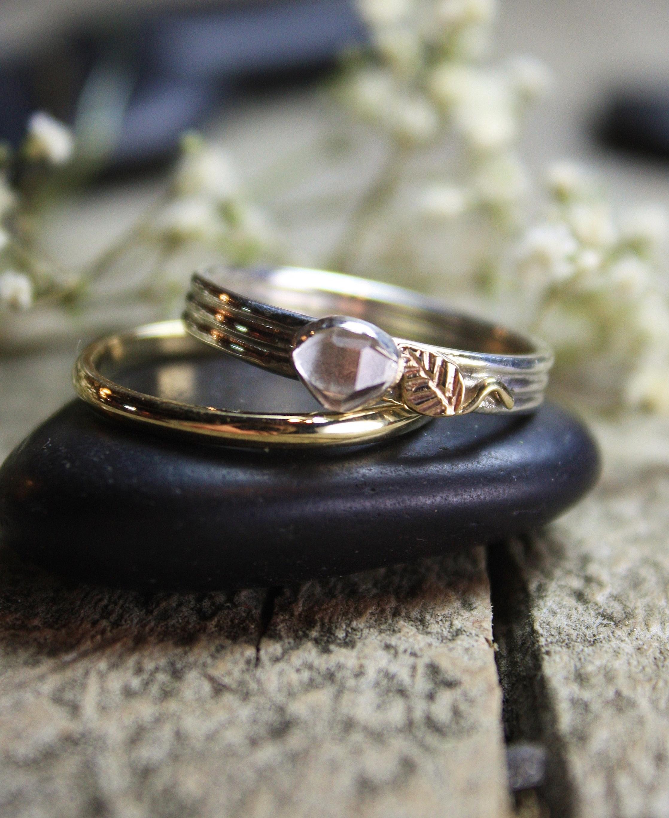Herkimer Quartz Gold Leaf Custom Ring 013.JPG