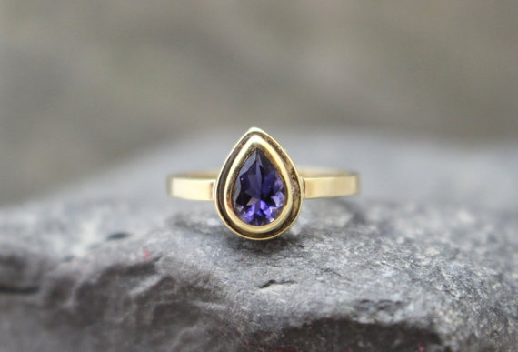 Iolite in 14k Gold