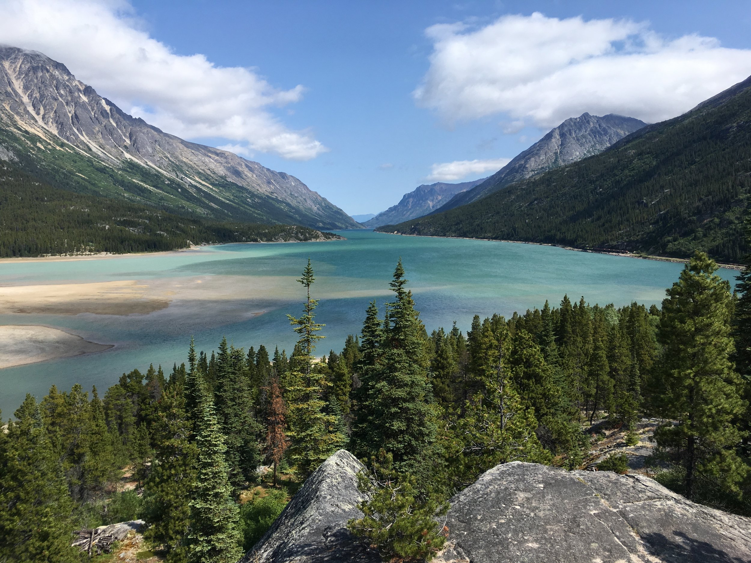 Bennet Lake - Yukon headwaters. The terminus of the hiking trail and the beginning the paddling trail