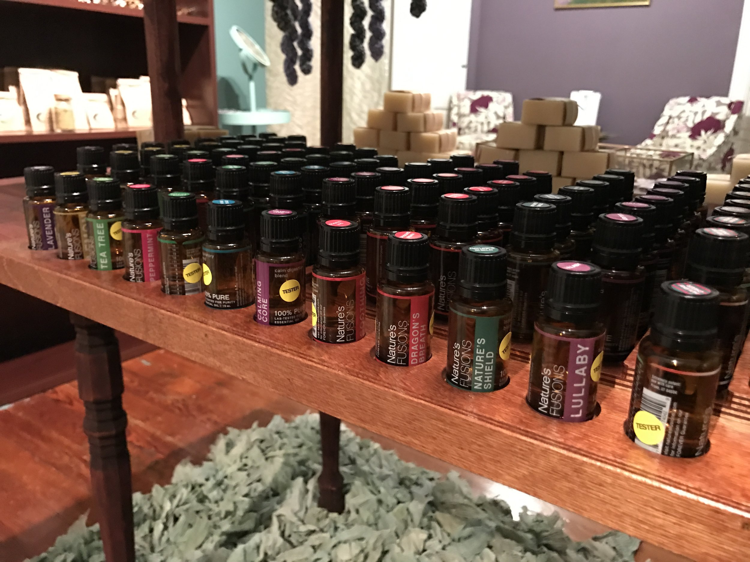 therapeutic grade essential oils by Nature's Fusions