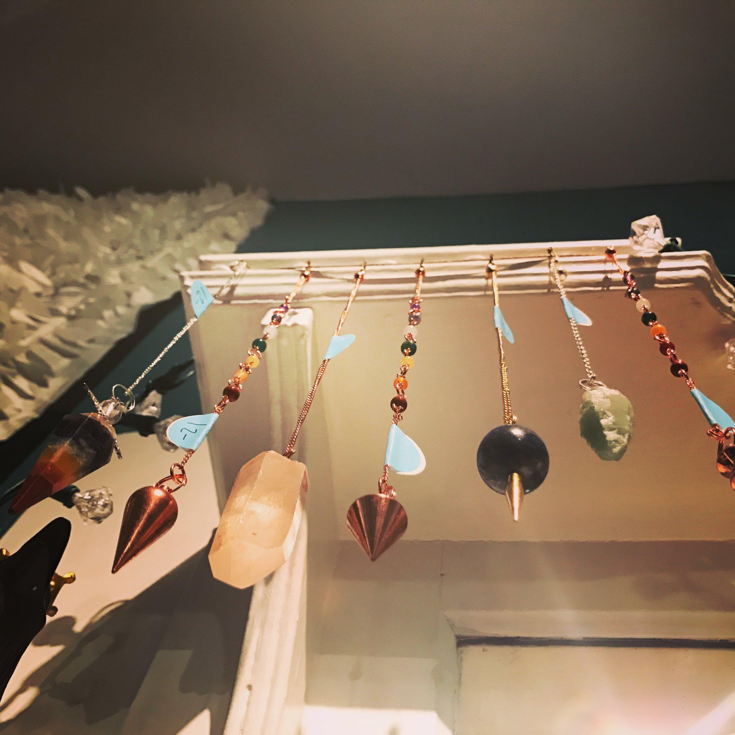 pendulums - healing crystals