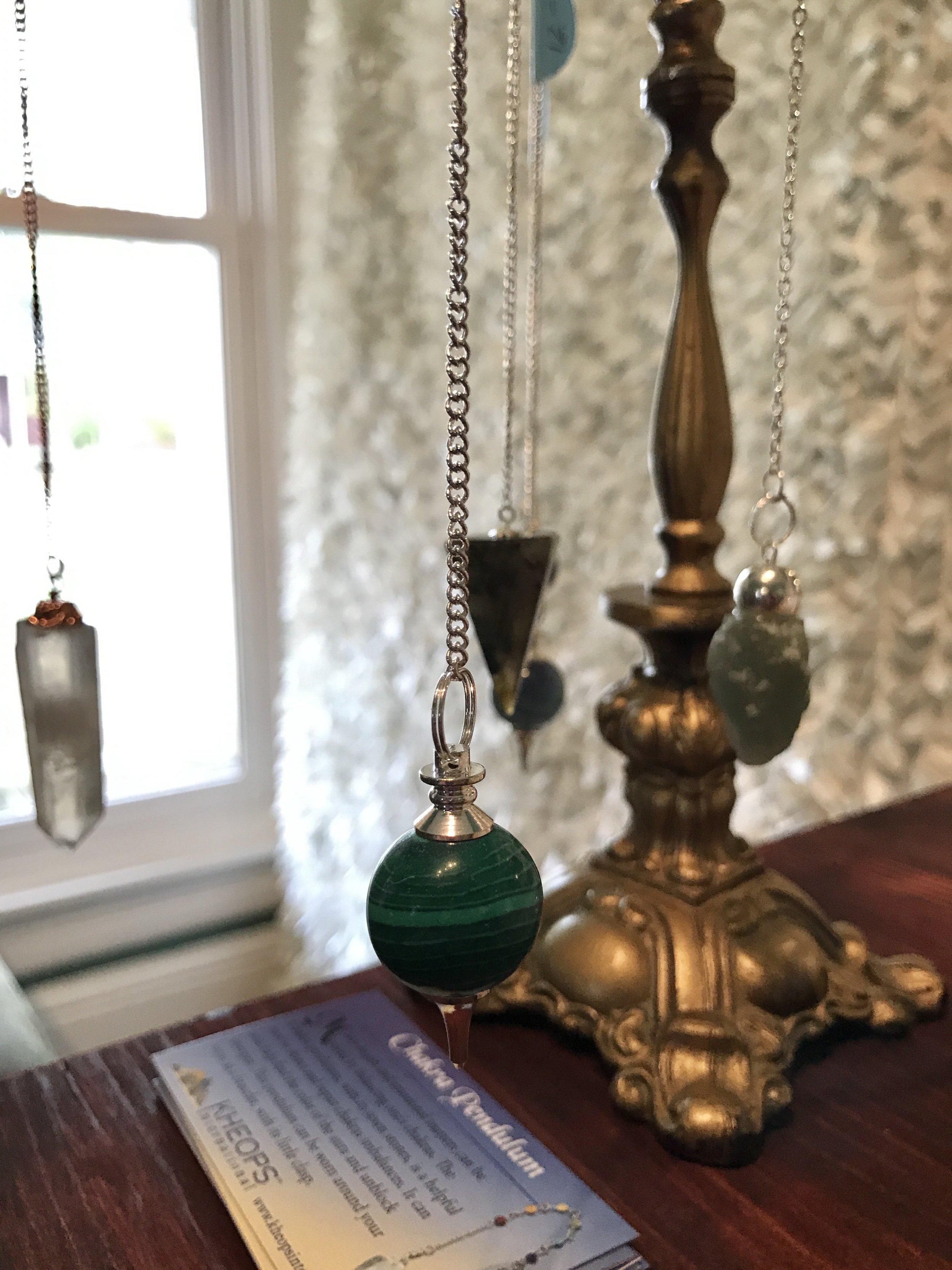 pendulums - healing minerals