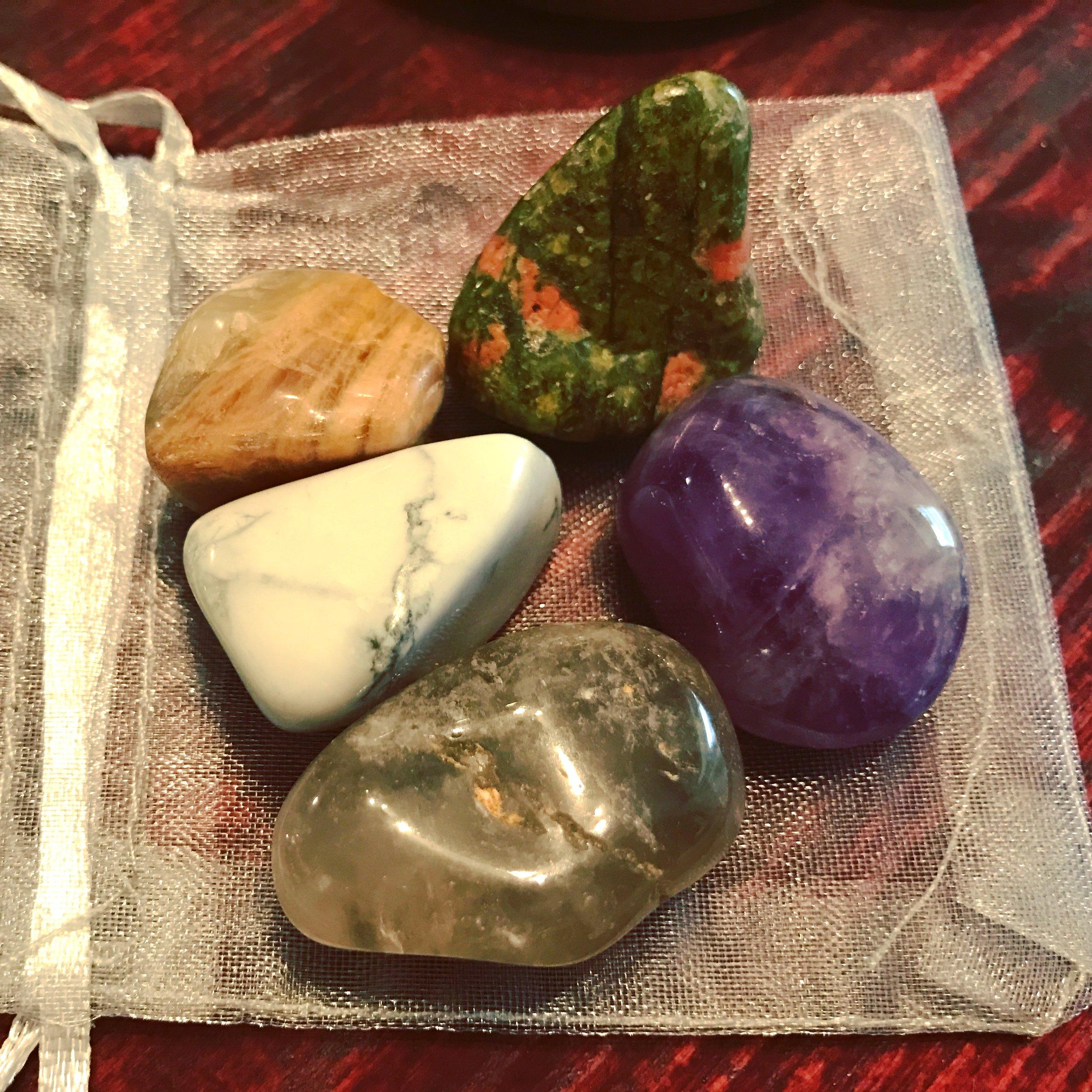 healing crystals bag for sleep