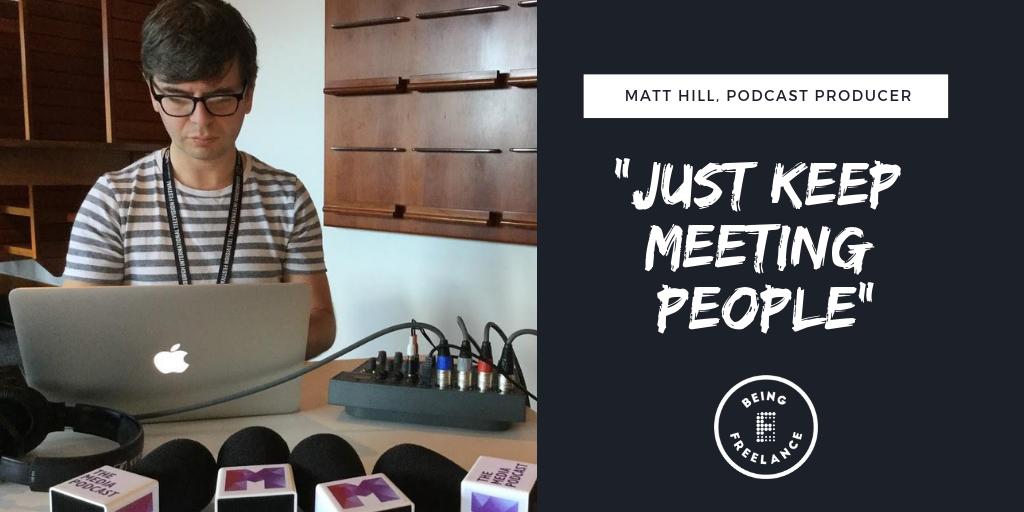 Matt Hill, Just keep meeting people TWITTER.png