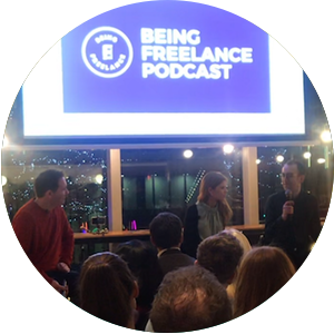Being Freelance Podcast Live at WeWork Manchester with IPSE