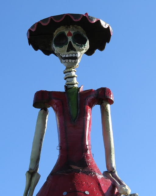 A photo of a Calaca, or skeleton. They are often used for Day of the Dead celebrations.