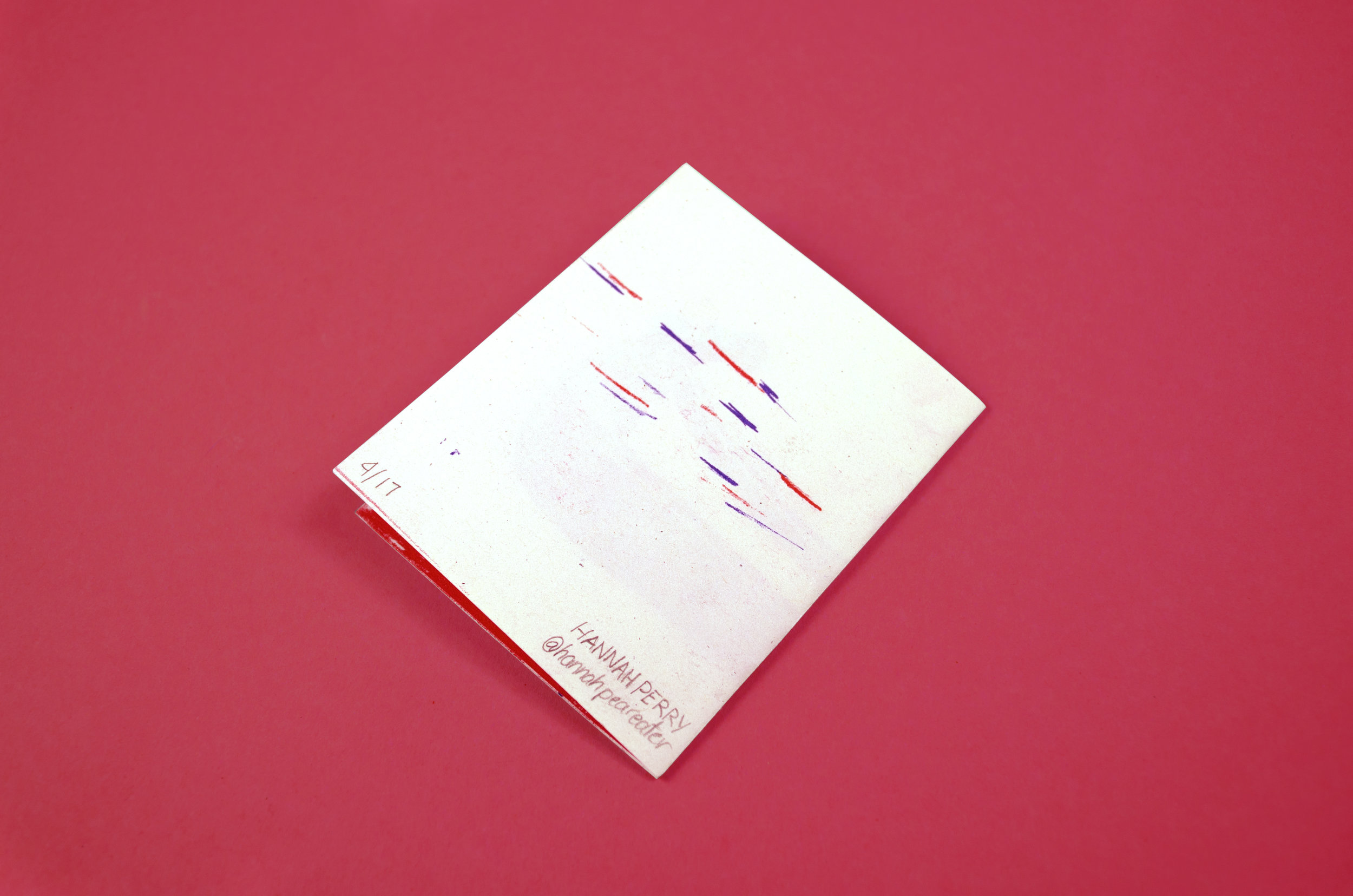 The Red Period riso zine by Hannah Perry