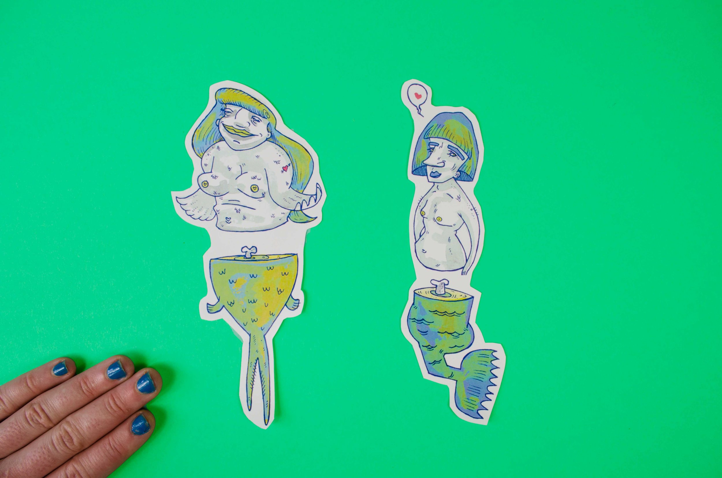 Mermaid Stickers by Baily Crawford