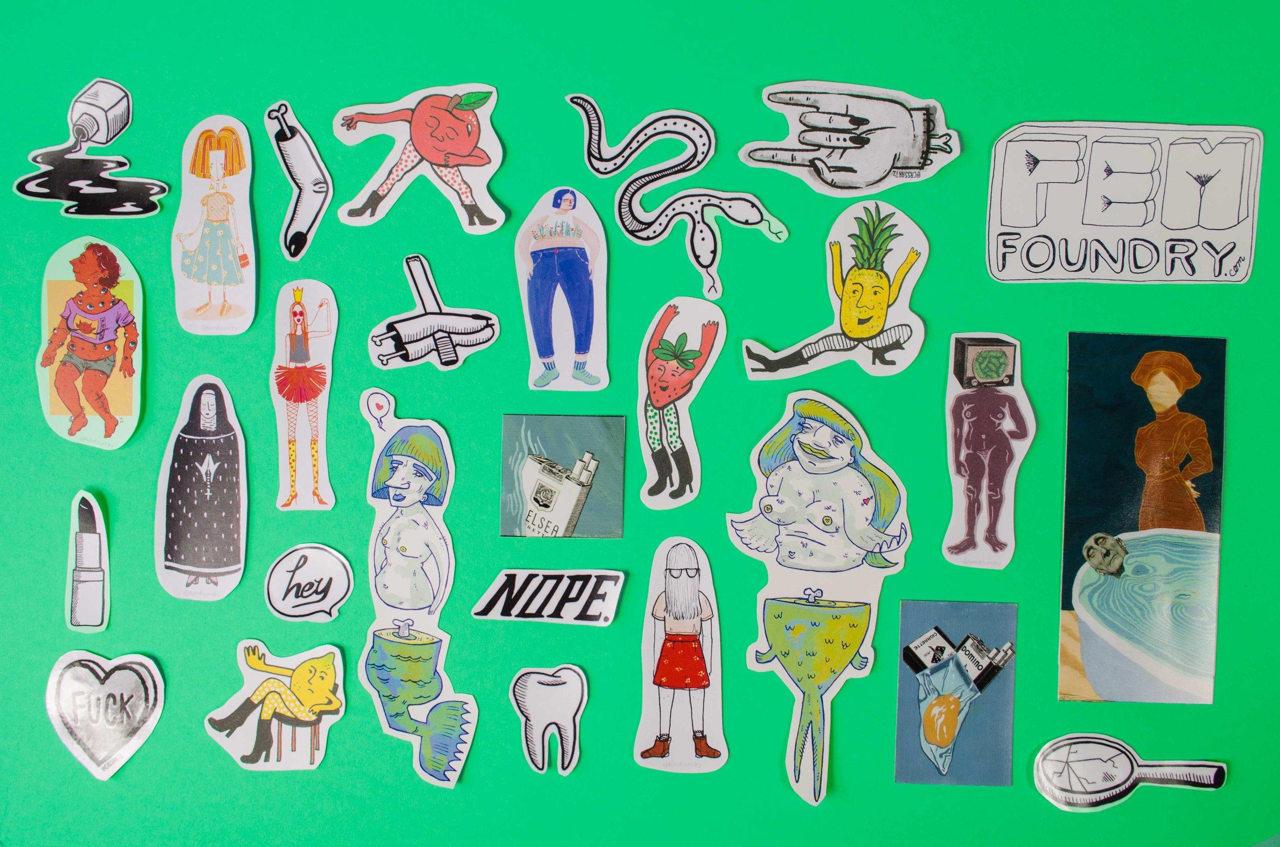 Fem Foundry Sticker Collection