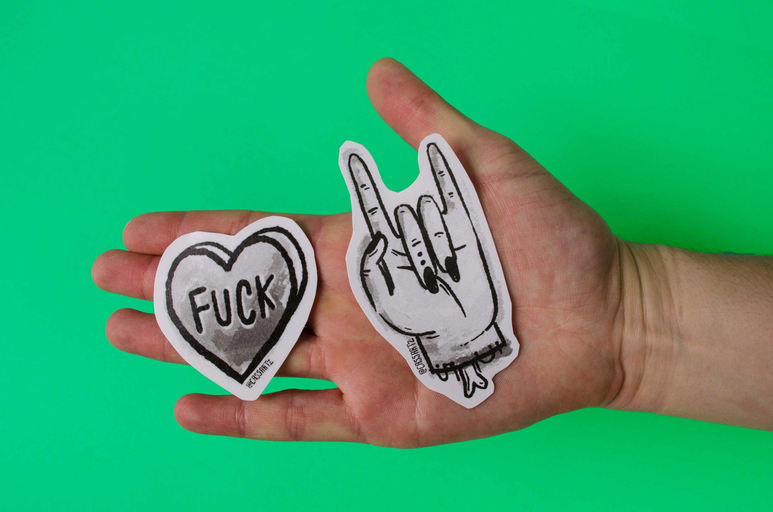 Rock N' Roll & Fuck Stickers by Cassandra Fountaine