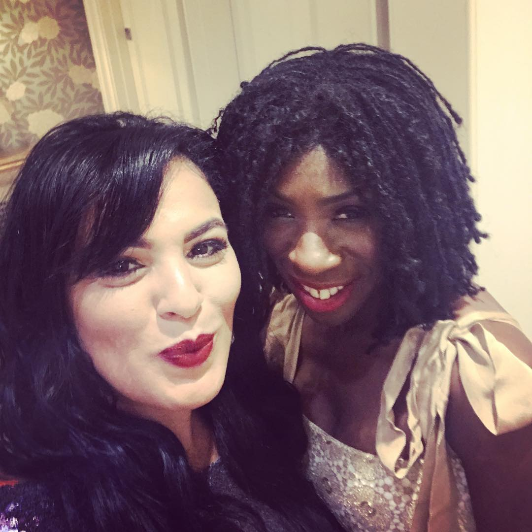 Heather Small with singer Michelle John