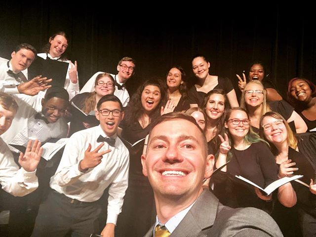 Had a pretty neat time performing with my @waketechcc students and colleagues, as well as an abundance of special guests for our Spring Concert! Check us out: https://youtu.be/oUZJpHj6hd0 #waketech #chorus #concert #selfie
