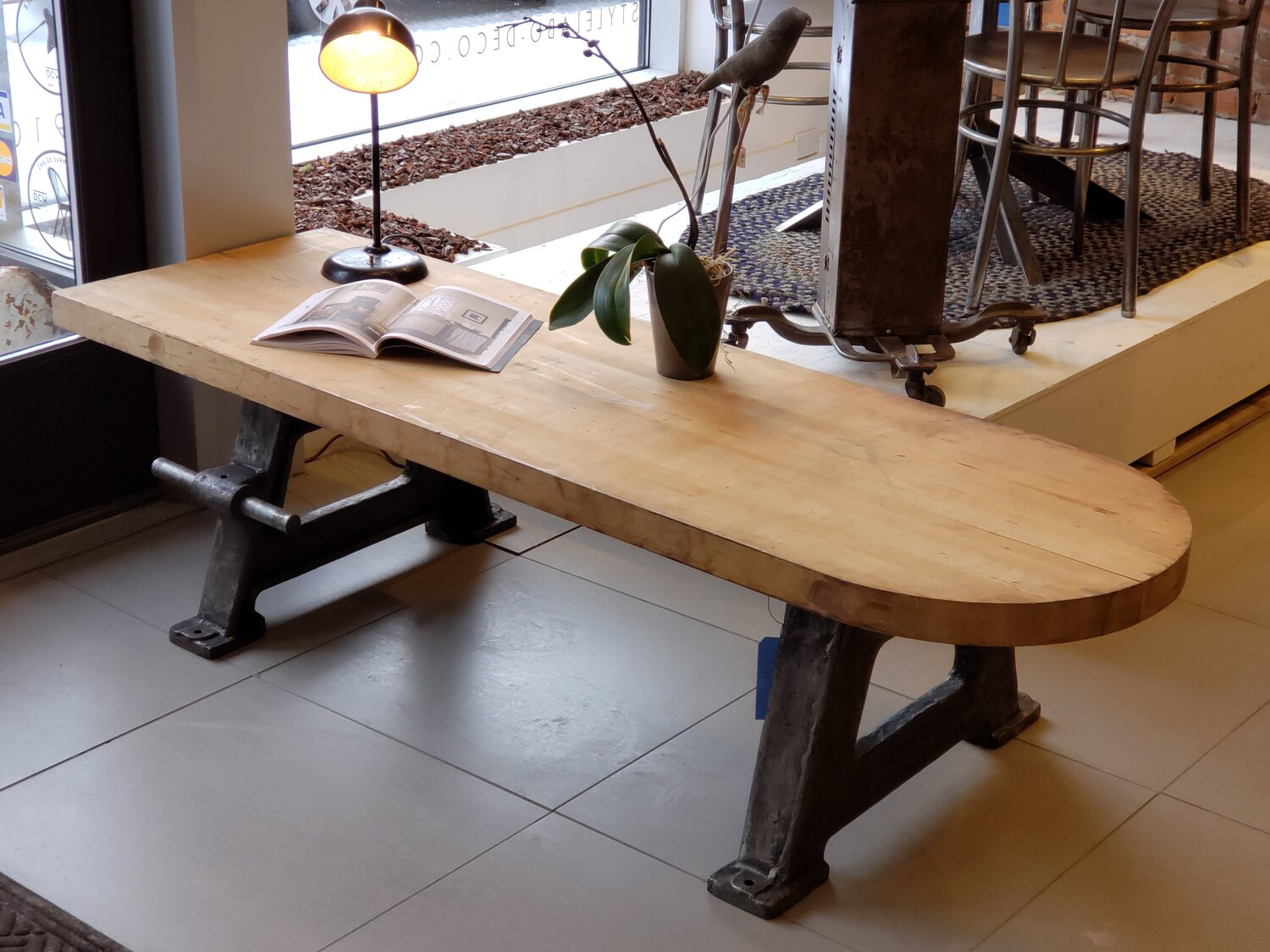 Table Basse Industrielle Bases Robinson Co Antiques M 1172 Ac 4653