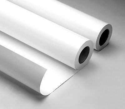 """3.4 mil white vinyl w/ adhesive backing  used primarily for temporary application on polished concrete or other smooth surfaces for the use of applying a variety of artistic mediums such as Solvent & Water-Based Dyes or Acid Stains topical coatings, and etching solutions. (Please do NOT use with substances like Xylene and MEK.)  Panels can be cut up to 56"""" wide by 10' long. Designs larger than 58"""" wide will be sectioned into panels connected by a .25"""" overlap unless otherwise specified.   *can be applied to more textured surfaces if applied correctly.  Adhesive Spray and a stippling brush are good tools to achieve correct installation. Please call for more details."""