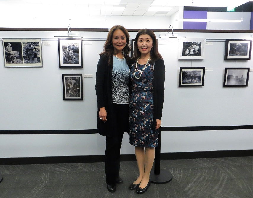 """With the producer of """"Hachi, A dog's tale"""", Vicki Shigekuni-Wong"""