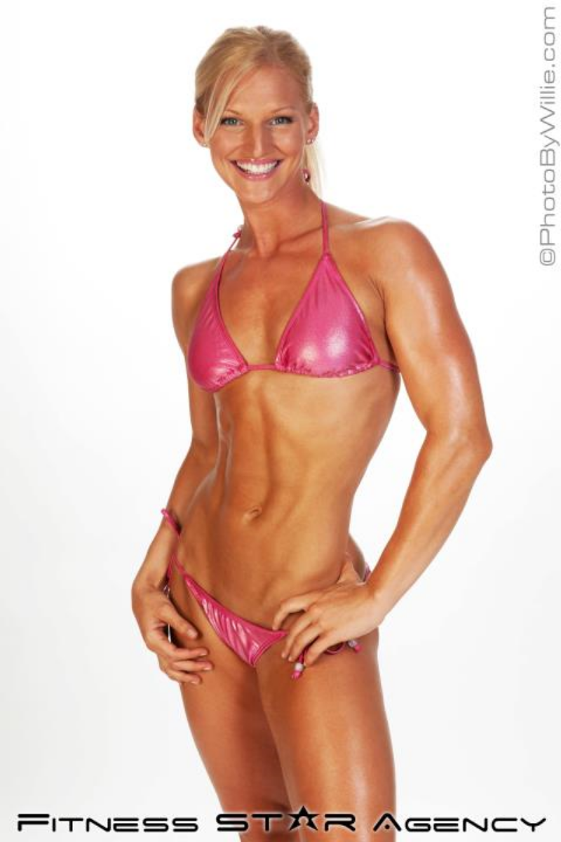 Amber in her fitness modelling days :)