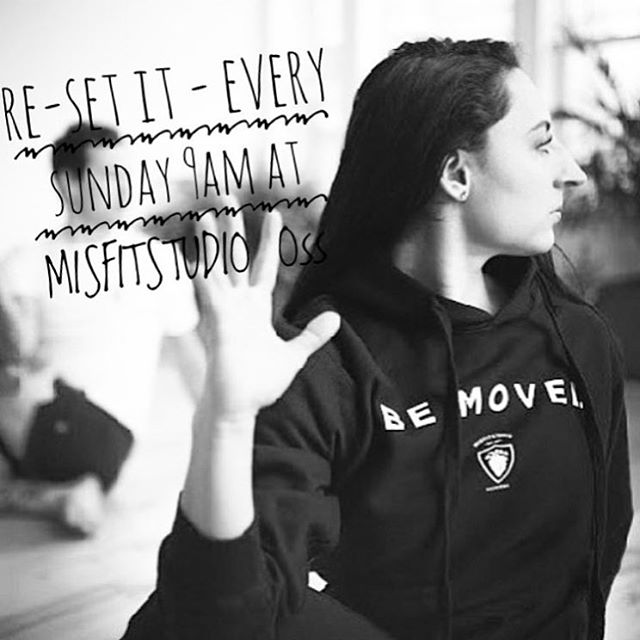 WEEKENDS •• See you Sundays 9am for our usual Re-set it ritual my #MisfitTribe •• #ReSetIt #Misfitstudio