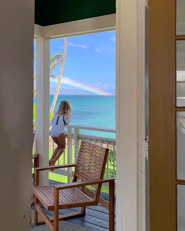 I heard a colorful knock on the front door. It was my friend, Rainbow.. 🌈 @thebucketlistfamily