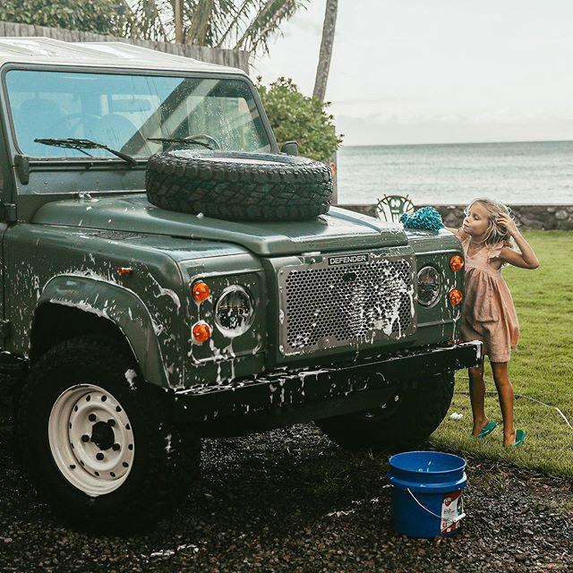 Washing the family ride so I can earn my own : ✨🚲✨ /// @thebucketlistfamily