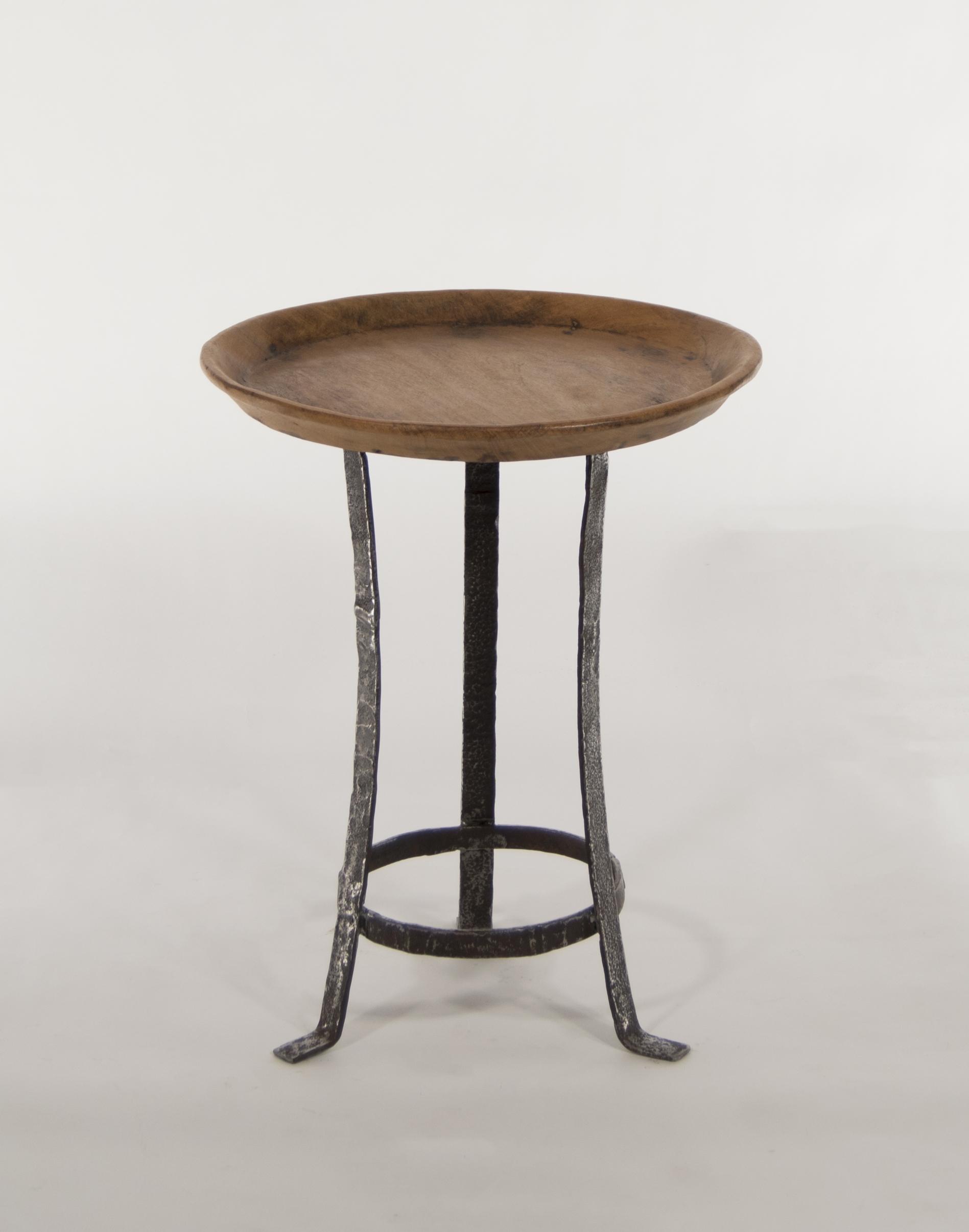 Iron Leg Rice Tray Table Living Room Furniture Teak West