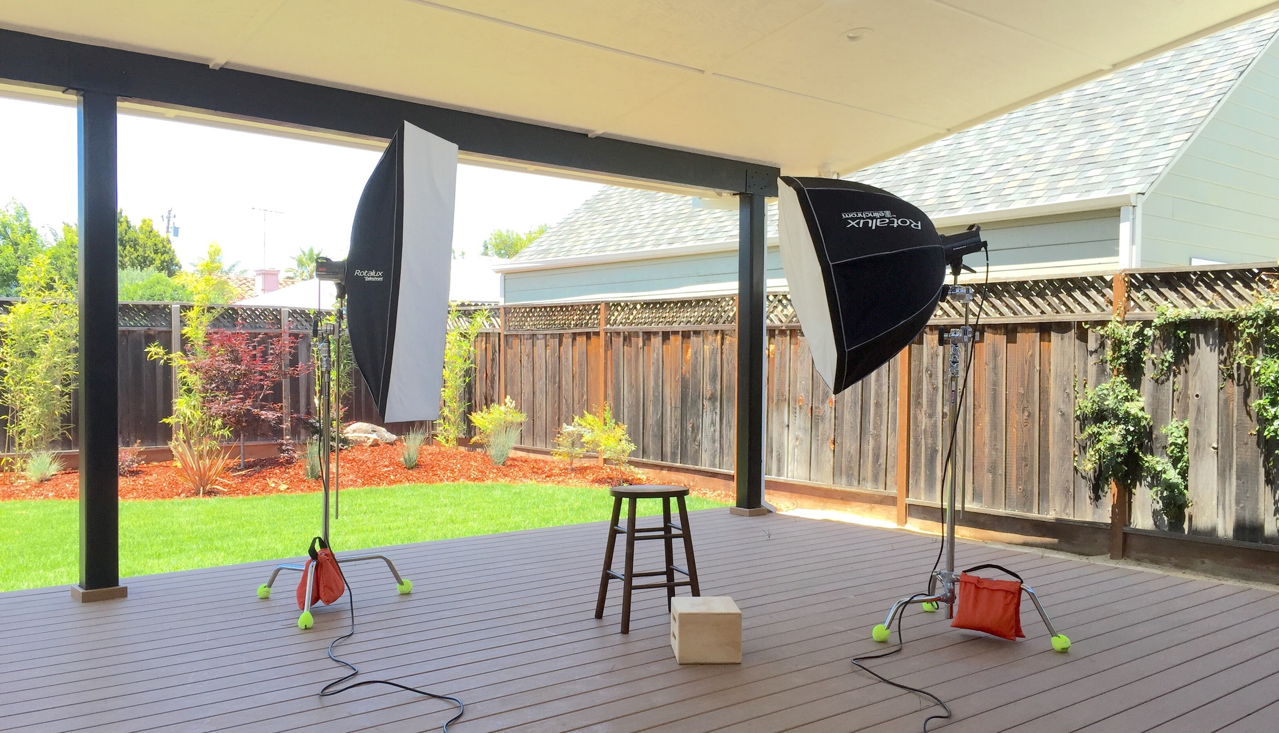 San Jose JapanTown outdoor studio.