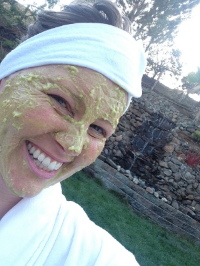 This is my face. I'm more comfortable hiding behind my rockin' avocado mask.