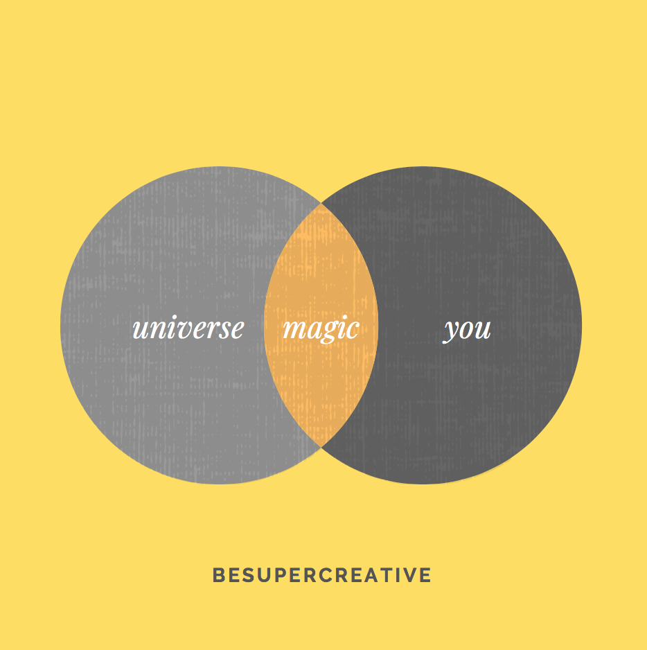you x universe = magic #besupercreative