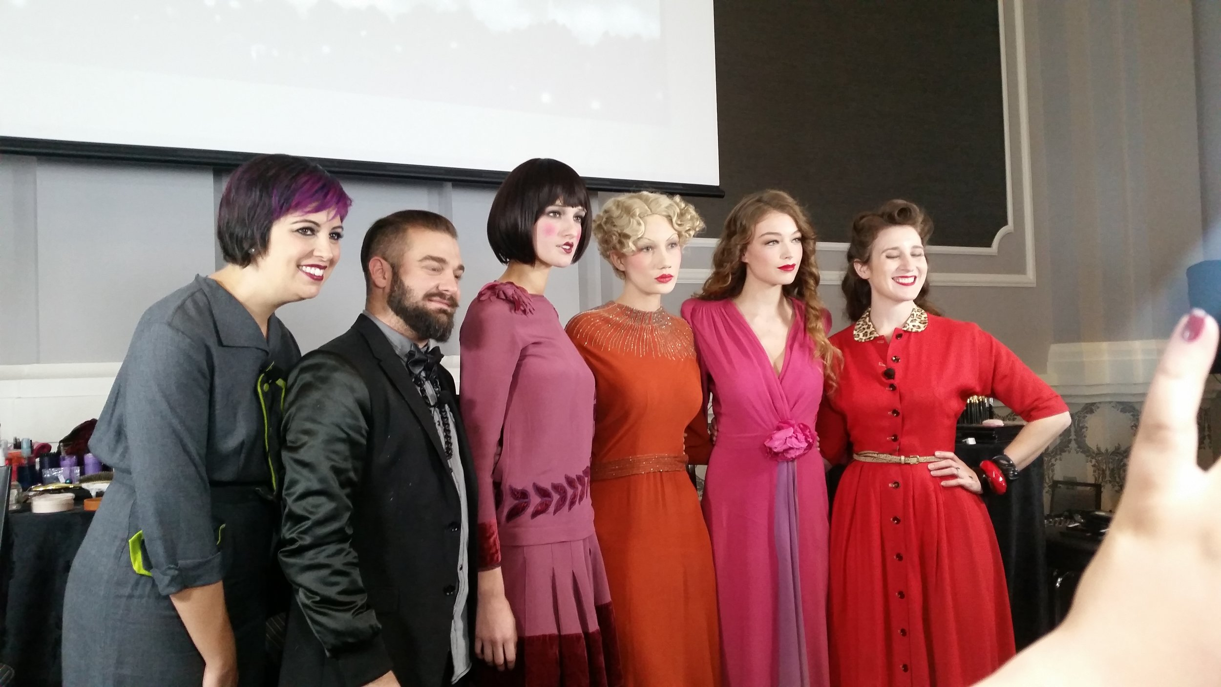 Jessica Padilla, Christopher Milone, Michelle Coursey with their vintage models