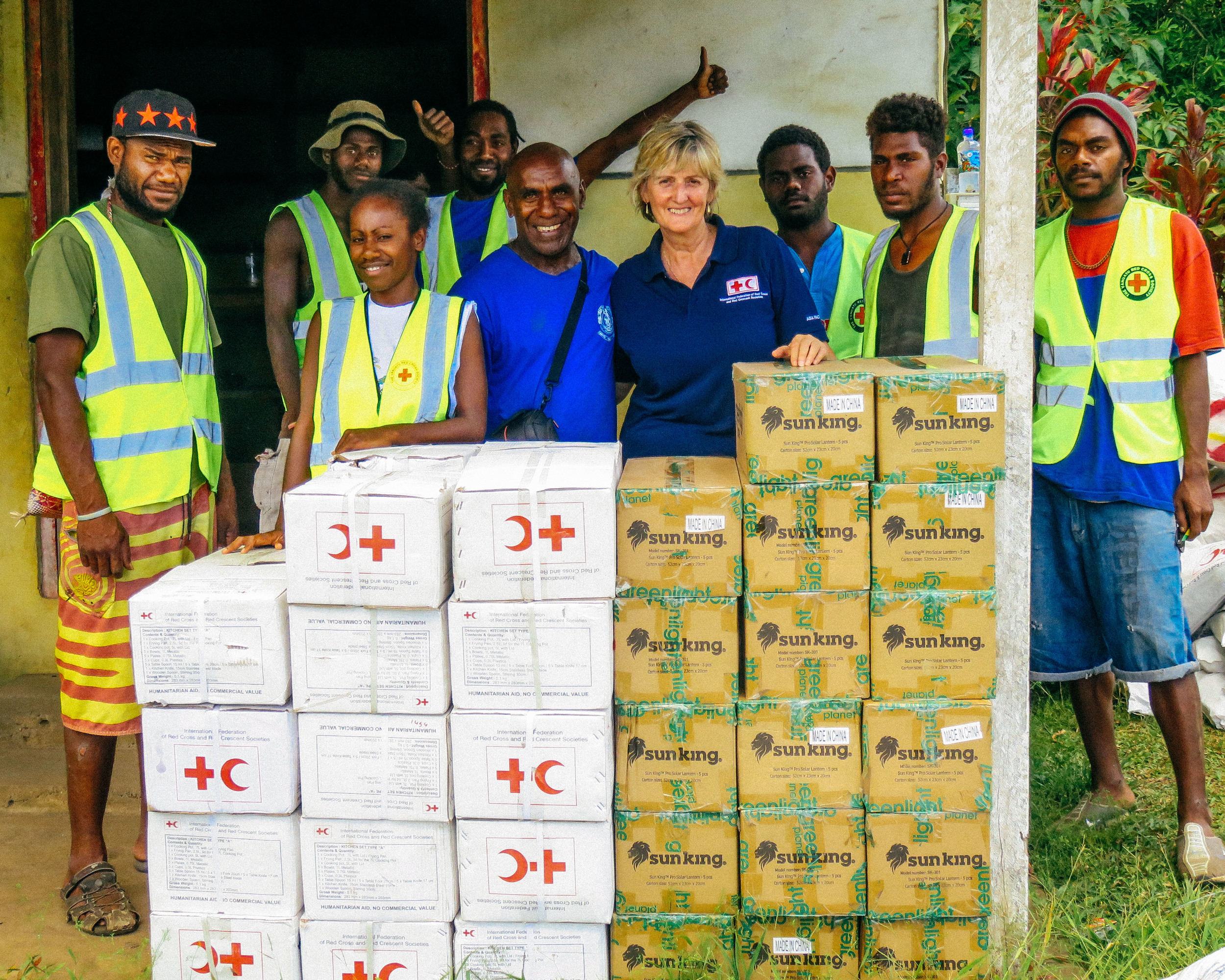 Supplies of emergency non-food relief items arrive in Tanna, Vanuatu to be stored in case of disaster. Source: Franco Fong, IFRC
