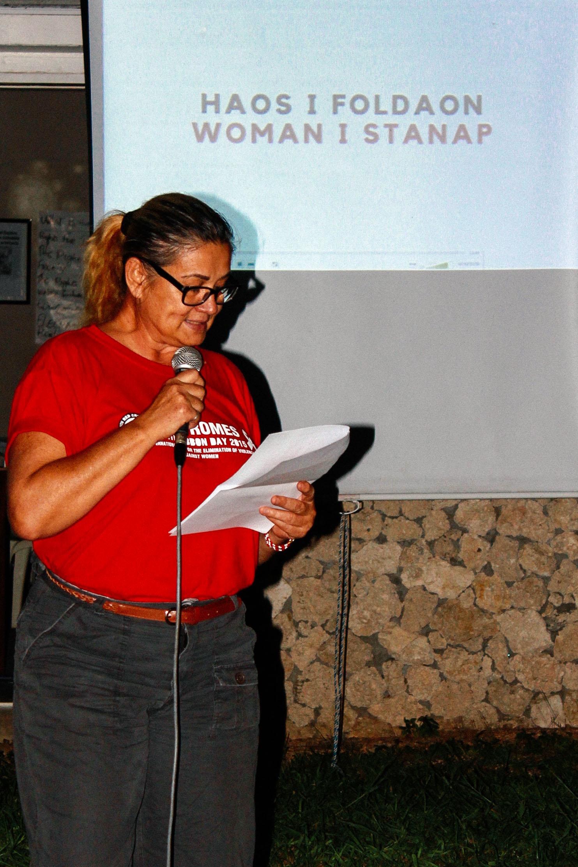 Vanuatu Red Cross CEO, Jacqueline De Gaillande. Source: Edwina Yeates, VRCS