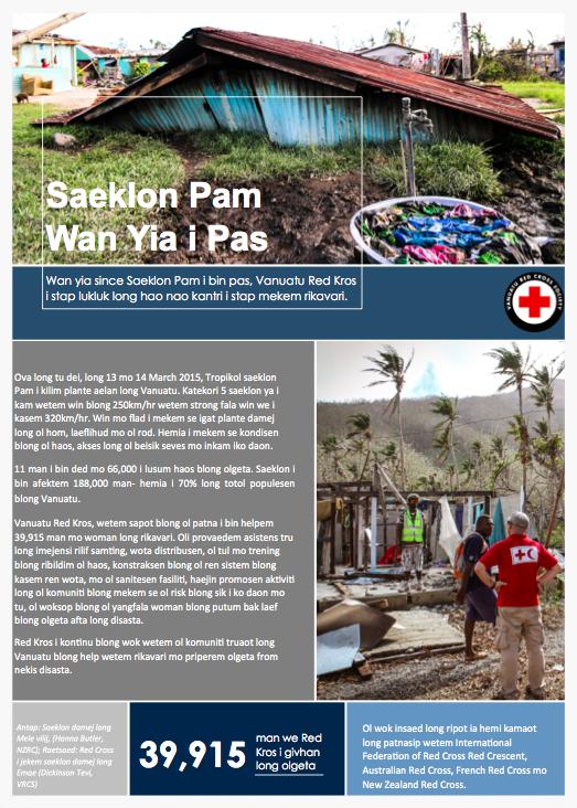 Cyclone Pam - One Year On - Bislama