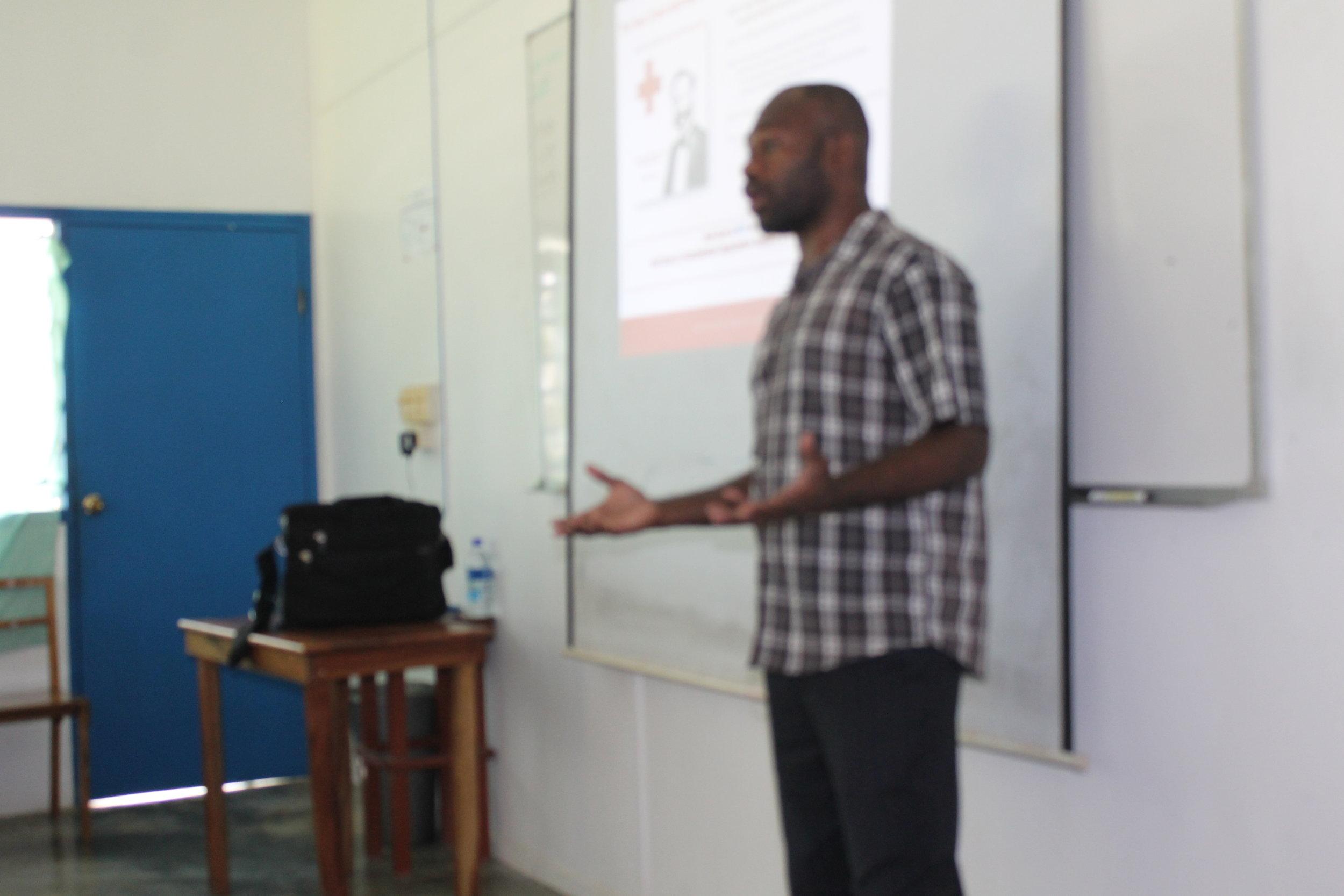 Vanuatu Red Cross dissemination presentation