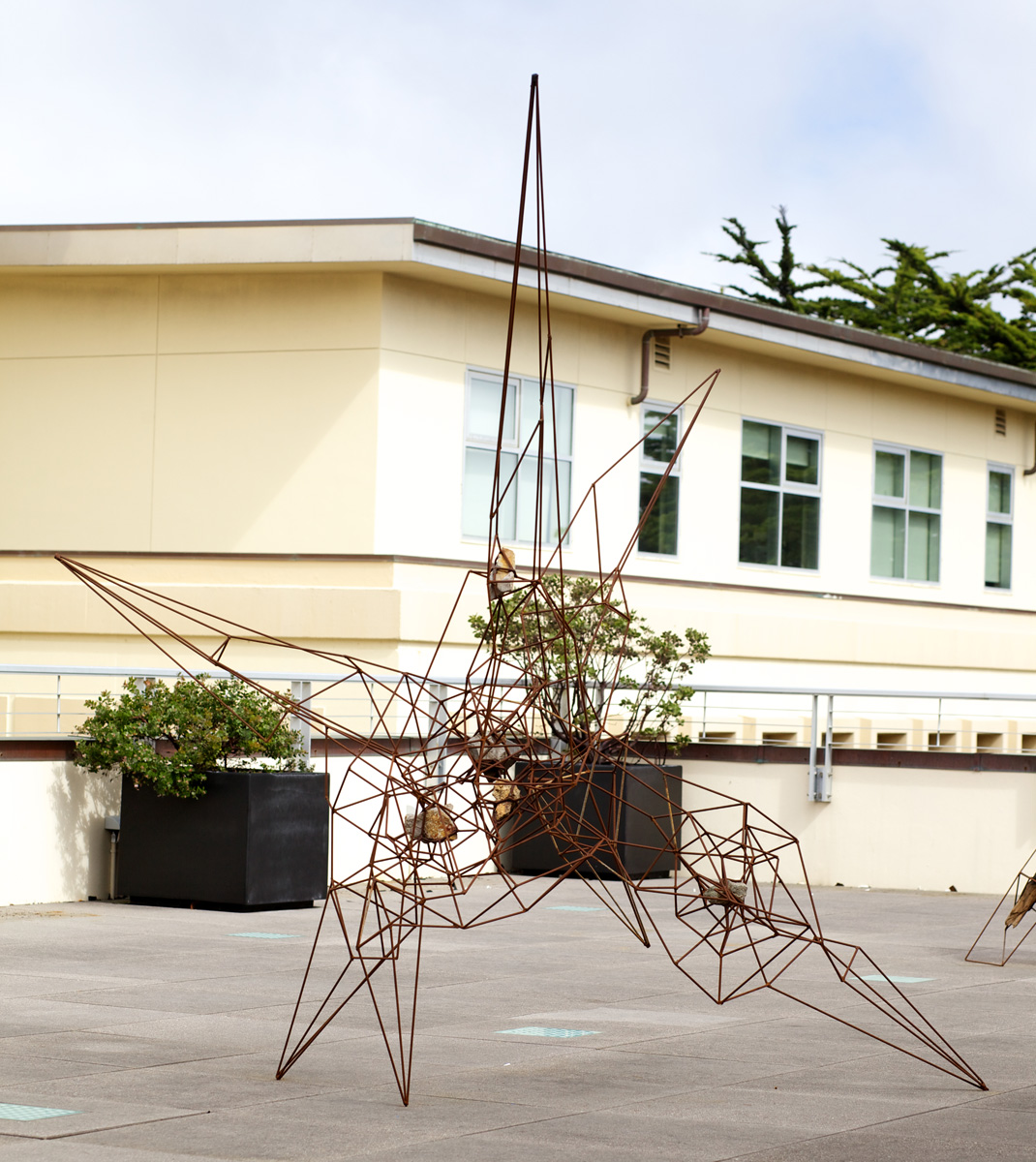 "96"" x 96"" x 84"", 2013 (Installation view at the University of San Francisco Sculpture Terrace.)"