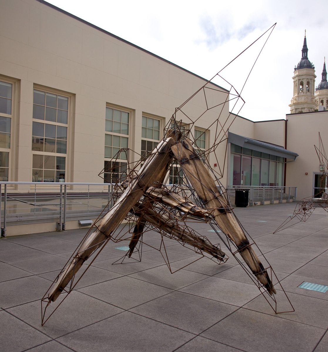 12' x 8' x 7', 2013 (Installation view at the University of San Francisco Sculpture Terrace.)