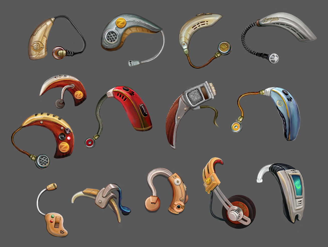 """I Expect You To Die"" Agent Earpiece Concepts (VR Title, Schell Games)"