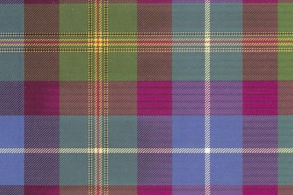 "The ""Fifty Six"" tartan was designed by Scottish National Party member Billy Scobie to salue their recent phenomenal electoral victory. It too draws on the gold and red of the Lion Rampant, the blue and white of the Saltire, and the purple and green of heather and the Scot landscape. To date, this tartan has not been woven."